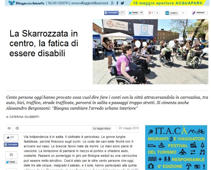 Repubblica: La skarrozzata in centro, la fatica di essere disabili