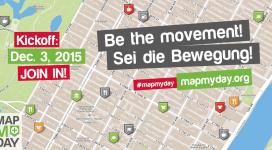 Plakat zu der Kampagne MapMyDay am 3. Dezember