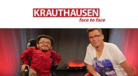 Bild mit Raul Krauthausen und Martin Fromme und das Logo von Krauthausen Face to face